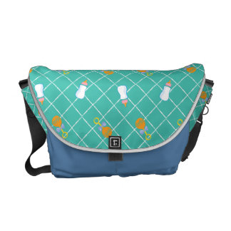 The Boss Baby | Teal Bottle & Rattle Pattern Courier Bag