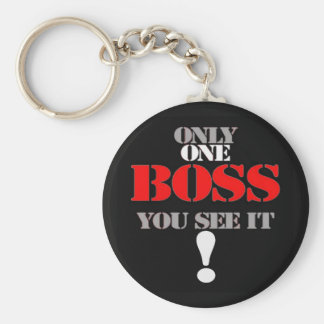 THE BOSS BASIC ROUND BUTTON KEY RING