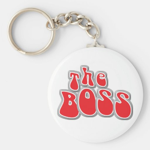 The Boss Funny Baby Keychain