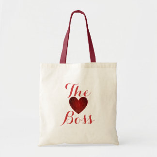 The Boss Heart Budget Tote Canvas Bags