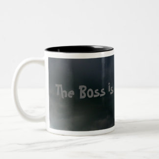 The Boss is in a BAD mood! Two-Tone Mug