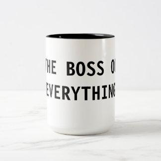 The Boss of Everything Two-Tone Coffee Mug