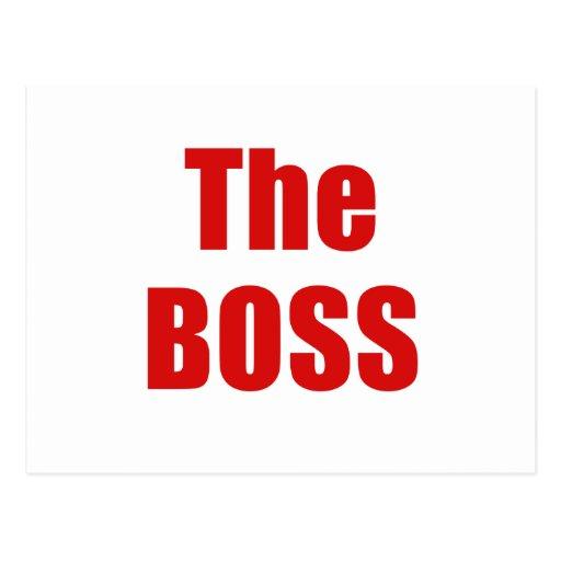 The Boss Post Card