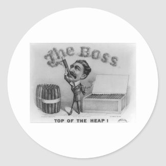 The Boss - Top of the Heap! Classic Round Sticker