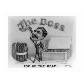 The Boss - Top of the Heap! Postcard