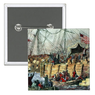 The Boston Tea Party, 16th December 1773 15 Cm Square Badge