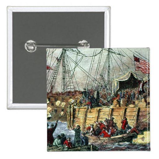 The Boston Tea Party, 16th December 1773 Pinback Buttons