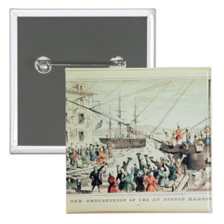 The Boston Tea Party, 1846 15 Cm Square Badge