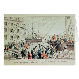 The Boston Tea Party, 1846 Card