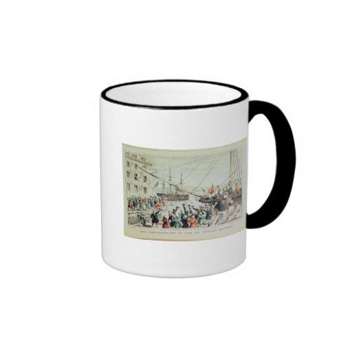 The Boston Tea Party, 1846 Coffee Mug