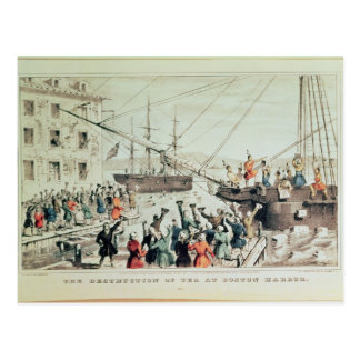 The Boston Tea Party, 1846 Postcard