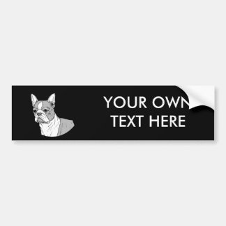 THE BOSTON TERRIER BUMPER STICKER