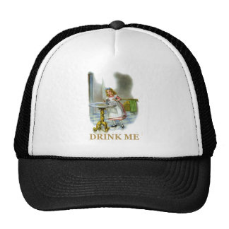 The Bottle Said Drink Me, So Alice Did! Hats