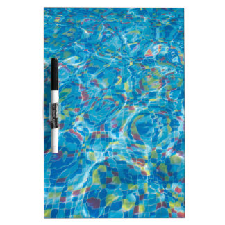 The bottom of the pool of multicolored tiles Dry-Erase board