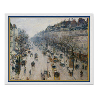 """The Boulevard Montmartre"" by Camille Pissarro Poster"