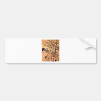 The Boulevard Viewed from Above by Gustave Bumper Sticker