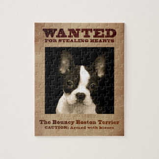 The Bouncy Boston Terrier Jigsaw Puzzle