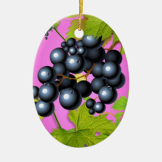 The Bountiful Grape Collection Ceramic Oval Decoration