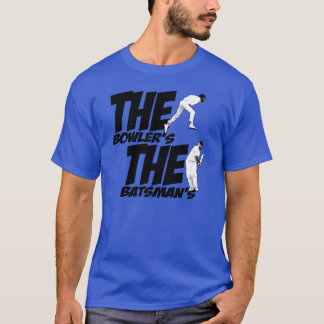 The bowler's Holding the batsman's Willey T-Shirt