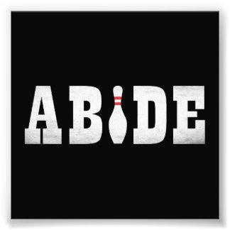 The Bowling Dude Abides Art Photo