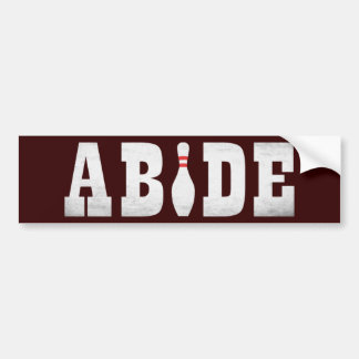 The Bowling Dude Abides Bumper Sticker