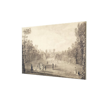 The Bowling Green at Claremont, 1738 (engraving) Canvas Prints