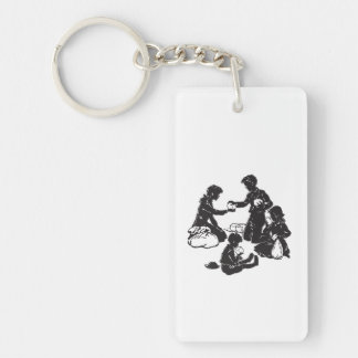 The Boxcar Children: Four Hungry Children Key Ring