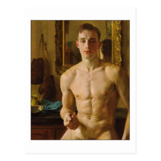 The Boxer by Konstantin Somov Postcard