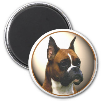 The Boxer Dog 6 Cm Round Magnet