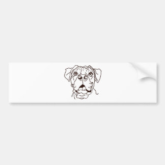 The Boxer Love of My Life Bumper Sticker