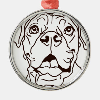 The Boxer Love of My Life Metal Ornament