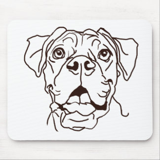 The Boxer Love of My Life Mouse Pad