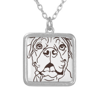 The Boxer Love of My Life Silver Plated Necklace