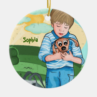The Boy And His Dog kids ornament