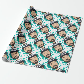 The boy wrapping paper