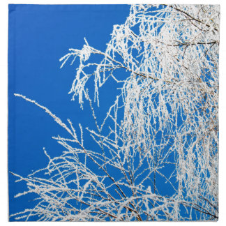 The branches of the tree during the winter napkin