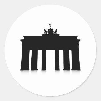 The Brandenburg Gate Classic Round Sticker