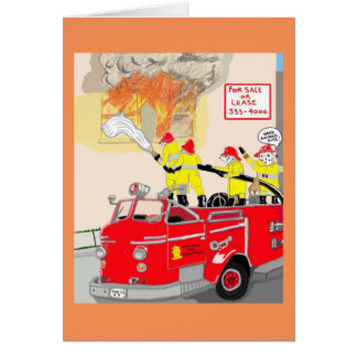 The Brave Fire Fighters Greeting Card
