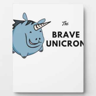 The Brave Unicorn Plaque
