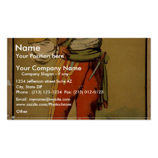The Brazilian, 'Very Merry Mariner' Vintage Theate Business Card Templates