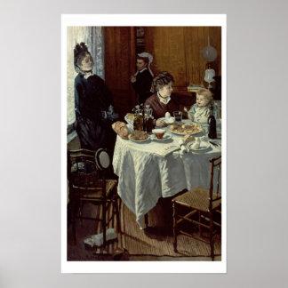 The Breakfast, 1868 (oil on canvas) Print