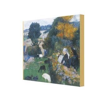 The Breton shepherdess by Paul Gauguin Canvas Print