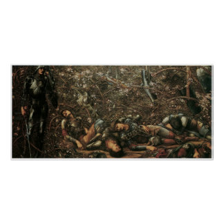 The Briar Rose - The Prince enters the Briar Wood Poster