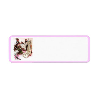 The bridal gown return address label