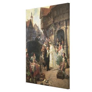 The Bride, 19th century Canvas Print