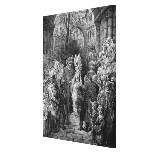 The Bride and Groom entering the hall Canvas Prints