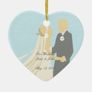 The Bride and Groom's Wedding Dance Ceramic Heart Decoration