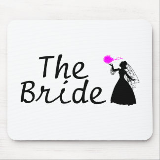 The Bride Black and Pink Bride Mouse Pad