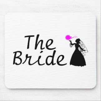 The Bride Bride (Black) Mouse Pad