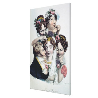 The Bride, c.1820 (litho) Gallery Wrapped Canvas